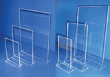 Acrylic holders and menu displays