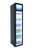 Narrow retro fridge with glass door - GCGD175