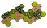 Cork hexagon set, pack of 26