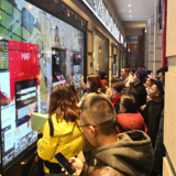 Interactive shopping window-Belle MAP flag store in Wuhan, China