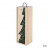 Holzboxen mit dem Weihnachtsbaumdekor - 1 Flashe - Papier
