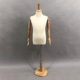 Clothing store adjustable fabric covered asia mannequin tailor half body