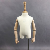 Adjustable tailor abstract high glossy kids half body draping mannequin