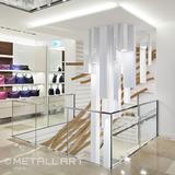 Glass railing at Longchamp, Munich