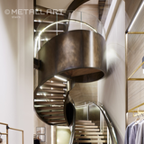 Steel stairs at Max Mara, Vienna