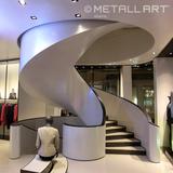 Steel soffit lining at Armani, Vienna
