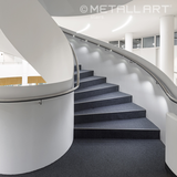 LED handrail lighting at a company building, Putzbrunn
