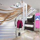 Steel stairs at Longchamp, Munich
