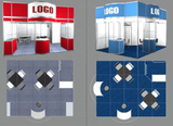 Improved standard exhibition booths