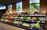 Lebensmittelmärkte mit Einkaufsambiente
