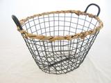 Metal Basket with Rim
