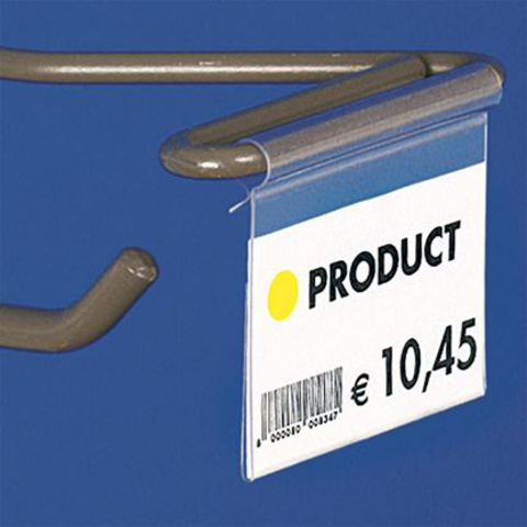"""ULTRA CLEAR"" FOLDED LABEL HOLDER - WITHOUT CENTRAL CUT"