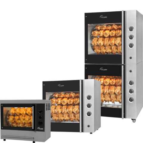 Manual rotisseries for crispy, delicious and appetizing products