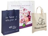 bedruckte Permanenttaschen aus Non-Woven, PP-Woven und Baumwolle