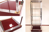 Polished stainless steel display rack