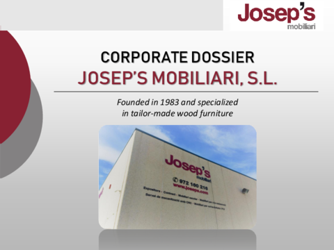 Dossier Josep's Mobiliari ENG