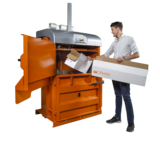 Orwak Compact 3120 loading cardboard