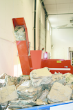 Dense cardboard briquettes