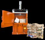 Orwak Compact 3110 open door cardboard cardboard bale
