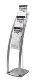 A4 Portrait Contemporary Floor Stand - Silver