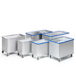 Spring-loaded base trolleys