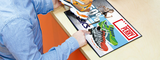 DeskWindo® Counter Mat Poster Display