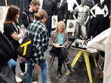 Live Drawing am Messestand