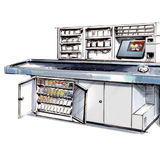 Under counter unit, sales-active and anti-theft