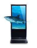 HD Metal Frame Vertical Digital Signage Kiosk, 1GB RAM Digital Signage Totem