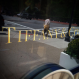 Gold decal sign