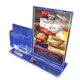 acrylic table menu display holder/table stand menu holder/clear acrylic menu holde