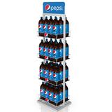 Merchandise Metal Display Rack with Customization for Pepsi