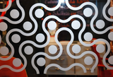 Glass decoration film with a sandblasted look