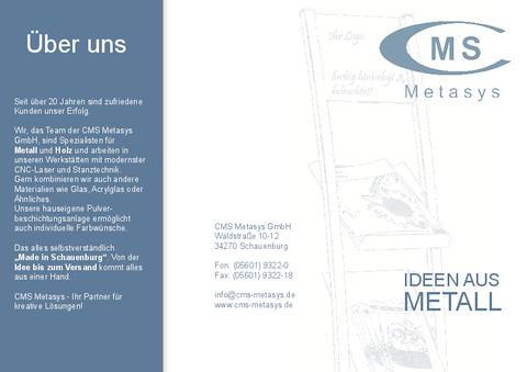 CMS Metasys Imagebroschüre