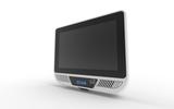 "P1110, 10.1"" mini kiosk with 1D / 2D scanner, 2 x 2W speak, RFID, POE, Wifi / Bluetooth"