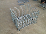 4 side metal stacked warehouse roll lockable cage and container