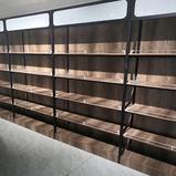 Light Duty Single-sided Store Steel Display gondola supermarket wooden shelf