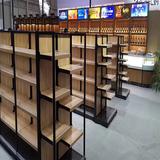 Customized Double Sides Gondola Wooden Rack Shelf Store Supermarket Display