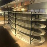 High Quality Light Duty Double Sided Gondola Wooden Supermarket Store Rack Shelf