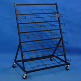 Multi Tier Steel Wire Shelf Rugs Rack Display Metal