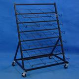 Multi Tier Steel Wire Shelf Rugs Rack Display Metal