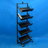 Free Standing Retail Shop Multi Tiers Metal Display