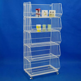 Supermarket Bulk Promotion Wire Stacking Basket