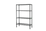 Adjustable 4 tiers metal mesh chrome wire shelving