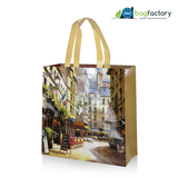 JUPITER LAMINATED NON-WOVEN PP LONG HANDLED RETAIL BAG WITH GUSSETS