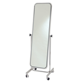 Single-sided swivel mirror with straight base