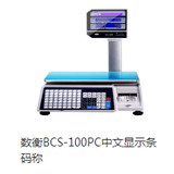 A number of BCS - 100PC Chinese display barcode