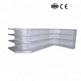 Metal Supermarket Gondola Shelf Metal Corner Shelf Unit, High Quality Supermarket Metal Corner store shelf