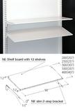 Shelf board with 12 shelves